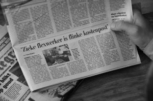 Zieke flexwerker is flinke kostenpost: artikel in de Telegraaf
